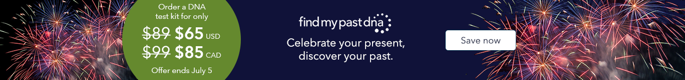 Celebrate your present, discover your past. Order a DNA test kit for only $65. Offer ends July 5.